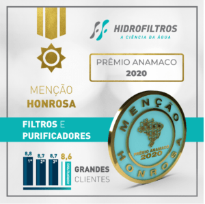 Prêmio Amanco 2020 - Hidrofiltros recebe menção honrosa - Blog Hidrofiltros