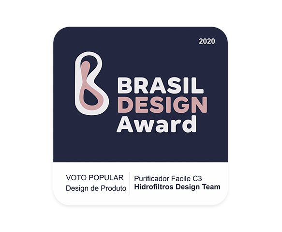 Hidrofiltros - Selo Brasil Design Award Purificador Facile C3